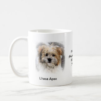 Lhasa Apso Mug - With two images and a motif