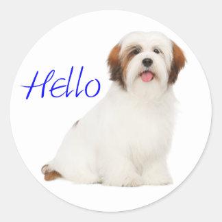 Lhasa Apso Puppy Dog Sticker / Label