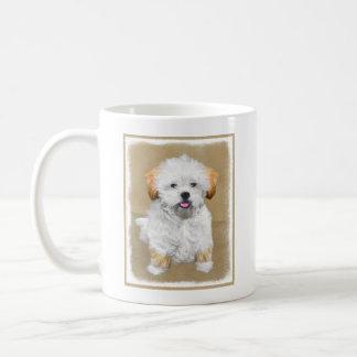 Lhasa Apso Puppy Painting - Cute Original Dog Art Coffee Mug