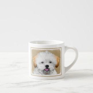 Lhasa Apso Puppy Painting - Cute Original Dog Art Espresso Cup