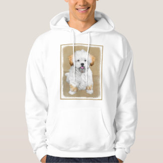 Lhasa Apso Puppy Painting - Cute Original Dog Art Hoodie