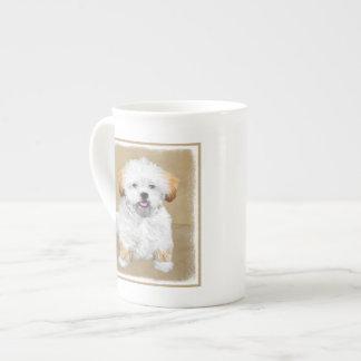 Lhasa Apso Puppy Painting - Cute Original Dog Art Tea Cup