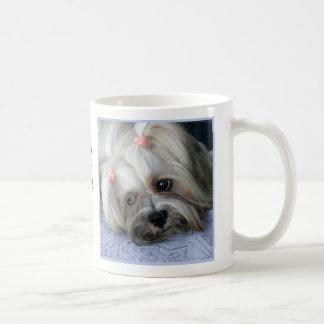 """Lhasa Apso Rugged Little """"Bark Lion Dog"""" Mug"""