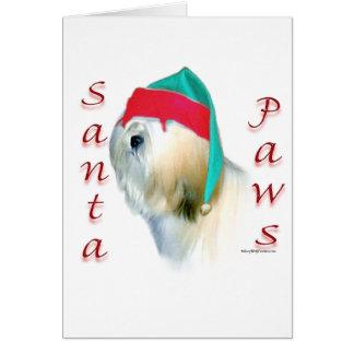 Lhasa Apso Santa Paws Card