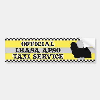 Lhasa Apso Taxi Service Bumper Sticker