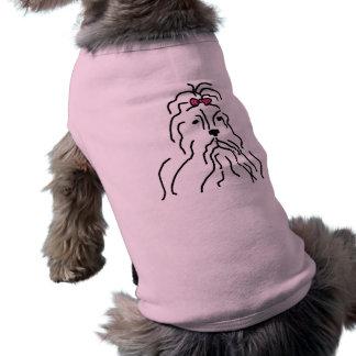 Lhaso Apso Pink Bow Pet Shirt