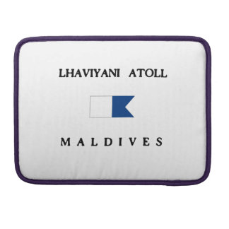 Lhaviyani Atoll Maldives Alpha Dive Flag Sleeve For MacBook Pro