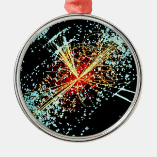 LHC Collision Silver-Colored Round Ornament