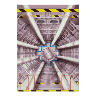 LHC particle collider Poster