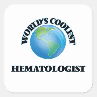 L'hématologue le plus frais du monde autocollant carré