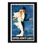 L'Hiver a Monte-Carlo Vintage Travel Advertisement