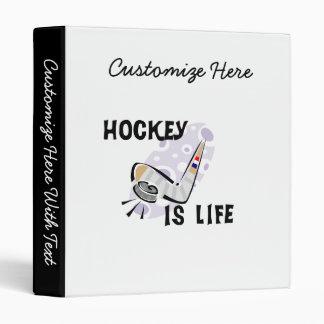L'hockey est galet de la vie et T-shirts et Classeurs Vinyle