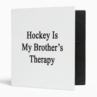 L'hockey est la thérapie de mon frère
