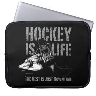 L'hockey est la vie housses pour ordinateur portable