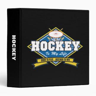 L'hockey est ma vie classeur 3 anneaux