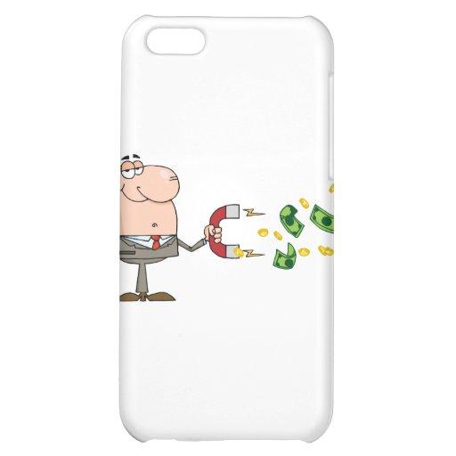 L'homme d'affaires utilisant un aimant attire l'ar étuis iPhone 5C