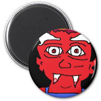 l'homme de diable magnet rond 8 cm