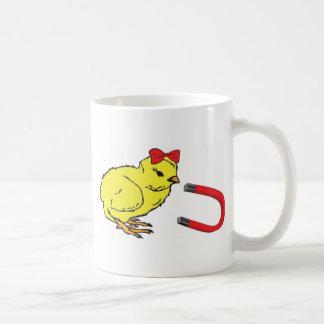 L'homme de la dame drôle d'aimant de poussin mugs