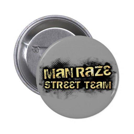 L'homme rasent l'équipe de rue ronde - gris badge