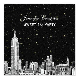L'horizon de NYC a gravé à l'eau-forte le bonbon Carton D'invitation 13,33 Cm