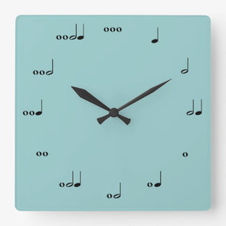 L'horloge de note de musique originale horloge carrée