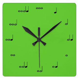 L'horloge de note de musique originale