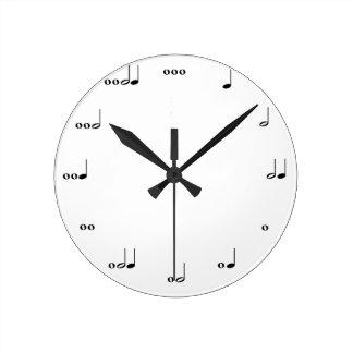 L'horloge de note de musique originale horloge ronde