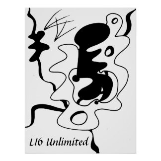 """LI6 Unlimited """"Beauti-form"""" Abstract Poster"""