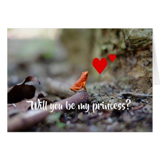 Li'l Red Frog Valentines Day Card
