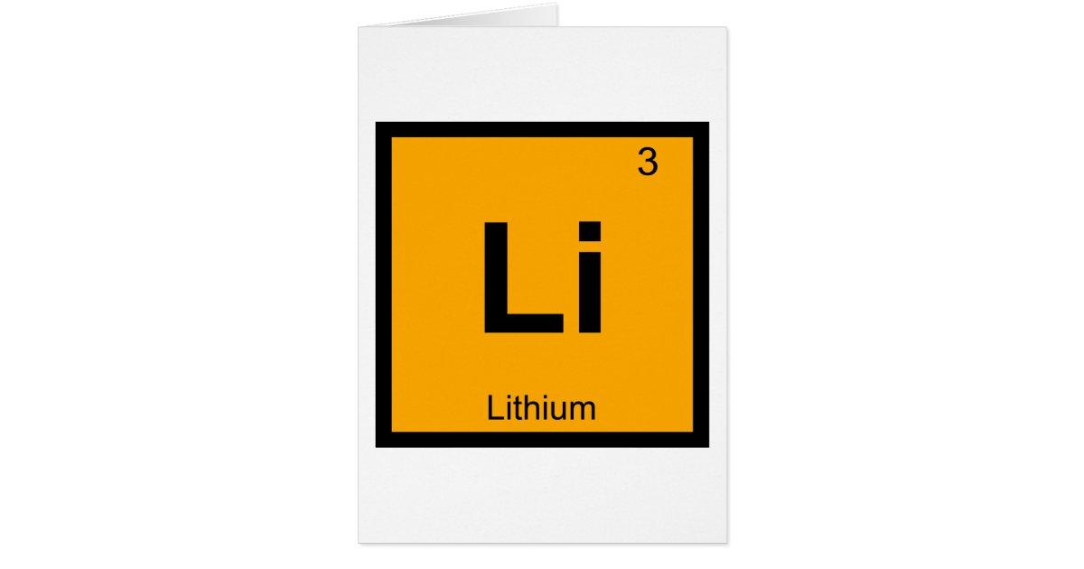 Li Lithium Chemistry Periodic Table Symbol Zazzle