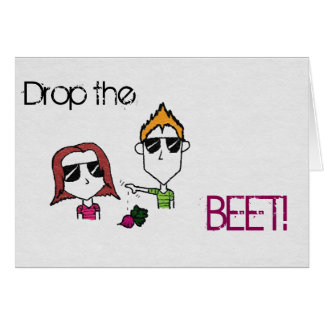 "Liam N' Livie ""Drop the Beet"" Party Invitations"