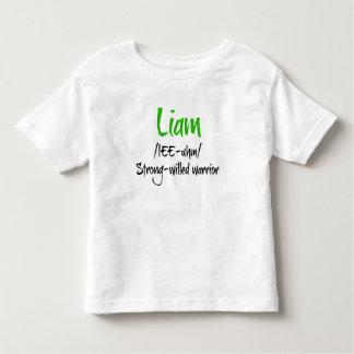 Liam Name Definition Shirt