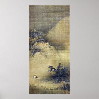 Liang Kai Snowy Scenery Poster
