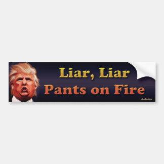 Liar, Liar, pants on fire Bumper Sticker