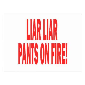 Liar Liar Post Card