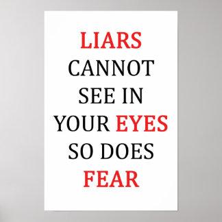 Liars Eyes Fear Poster