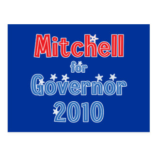 Libby Mitchell for Governor 2010 Star Design Postcard