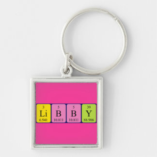 Libby periodic table name keyring