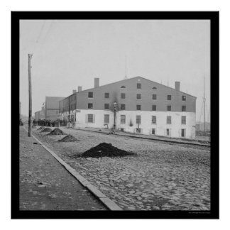 Libby Prison in Richmond, VA 1865 Poster