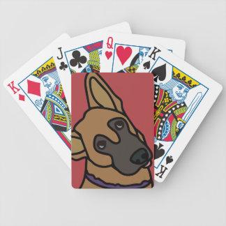 Libby the German Shepherd Dog Cartoon Bicycle Playing Cards