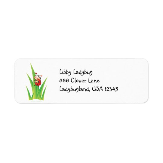 Libby the Ladybug Address Label