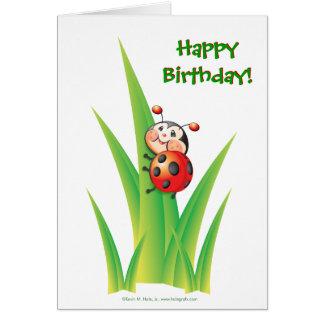 Libby the Ladybug Birthday Card