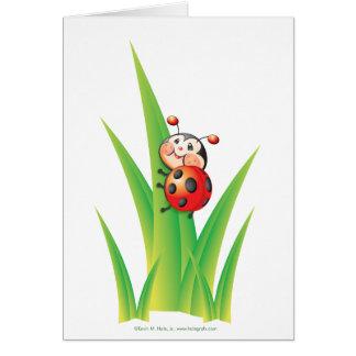 Libby the Ladybug Note Card