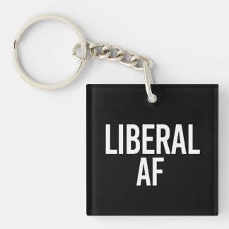 Liberal AF - - white - Keychain