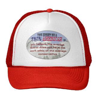 liberal conservative trucker hat