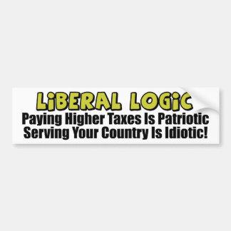 Liberal Logic: Idiotic! Bumper Sticker