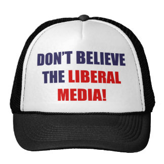 Liberal Media Trucker Hats