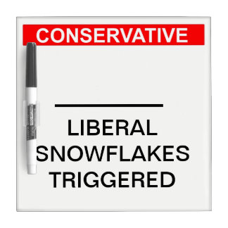 Liberal Snowflake Trigger Counter Dry Erase Board