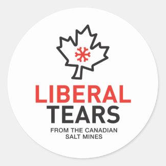 Liberal Tears Salt Mines Canada Classic Round Sticker