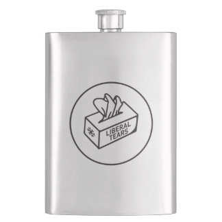 Liberal Tears Tissues box Funny CUSTOMIZE IT! Hip Flask